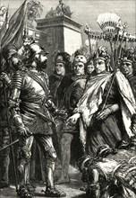 'Reception of Cortes by Montezuma',1519