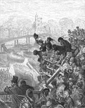 'Putney Bridge - The Return', 1872.  Creator: Gustave Doré.