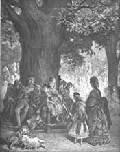 'The Great Tree - Kensington Gardens', 1872.  Creator: Gustave Doré.