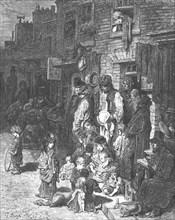 'Wentworth Street, Whitechapel', 1872.   Creator: Gustave Doré.