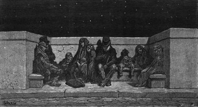 'Asleep Under the Stars', 1872.  Creator: Gustave Doré.