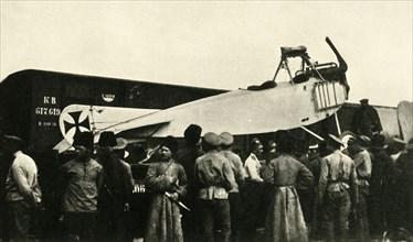 Captured German plane, Russia, First World War, 1914-1918, (c1920).  Creator: Unknown.