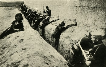 Armenians defending the city of Van, Turkey, First World War, 1915-1916, (c1920). Creator: Unknown.