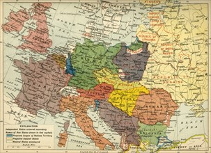 'The Partition of Europe under Treaties of Paris, June 1919', (c1920). Creator: Unknown.