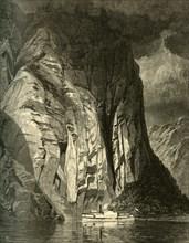 'Under Trinity Rock, Saguenay', 1874.  Creator: James David Smillie.