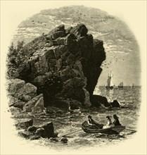 'Swallows' Cave, Nahant', 1874. Creator: John Douglas Woodward.