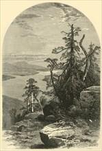 'Lake Memphremagog, North from Owl's Head', 1874. Creators: John Douglas Woodward, John Karst.