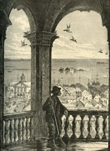 'A Glimpse of Charleston and Bay, from St. Michael's Church', 1872.  Creator: John J. Harley.