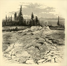 'Mud-Springs', 1872.  Creator: John J. Harley.