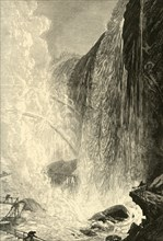 'The Cave of the Winds', 1872.  Creator: Harry Fenn.
