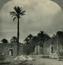 'An Oasis Town in the Sahara Desert, Sultanate of Morocco (French Protectorate)', c1930s. Creator: Unknown.