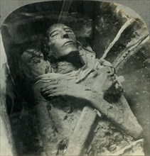 'The Body of Sethos I Who Lived in the 14th Century B.C., Cairo, Egypt', c1930s. Creator: Unknown.