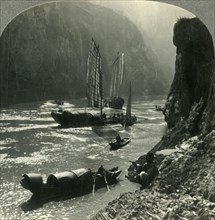 'The Witchies' Mountain and the Yangtze River Gorge, China', c1930s. Creator: Unknown.