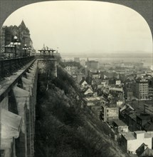 The Most Picturesque City in North America - Quebec from the Citadel, Canada', c1930s. Creator: Unknown.