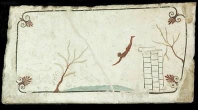 The Diver. Tomb of the Diver (Tomba del Tuffatore), ca 470 BC. Creator: Classical Antiquities.