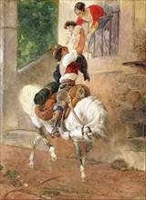Return of a Roman shepherd home, 1851-1852. Creator: Briullov, Karl Pavlovich (1799-1852).
