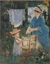 Le Linge (The Laundry), 1875. Creator: Manet, Édouard (1832-1883).