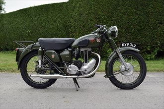 1954 Matchless G3 LS Auxiliary Fire Service motorcycle. Creator: Unknown.