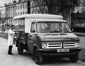 1970 Bedford CF milk delivery van. Creator: Unknown.