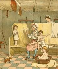 Bath time, c1881. Creator: Randolph Caldecott.