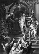 'They cried out, saying, Crucify him, crucify him', c1840.  Creator: George Presbury.