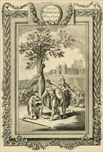 'King Athelstan saving the Life of his Father, Edward the Elder...', c1786. Creator: William Walker.