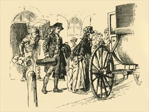 'The carriage which was to convey the travellers drew up at the door', (1907).  Creator: Unknown.