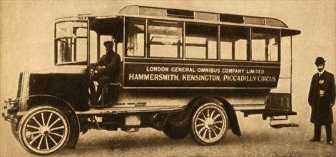 'First L.G.O.C. Motor Bus', 1904, (1933).  Creator: Unknown.