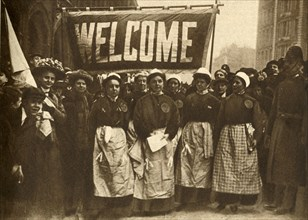 'The Welcome to the Victims of Masculine Tyranny' 1908, (1933).  Creator: Unknown.
