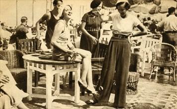 Women with yo-yos, 1932, (1933). Creator: Unknown.