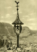 Church bell and weather vane, Kitzbühel, Tyrol, Austria, c1935. Creator: Unknown.