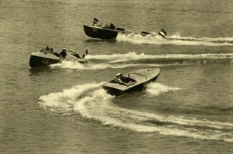 Motorboat race, Wörthersee, Carinthia, Austria, c1935.  Creator: Unknown.