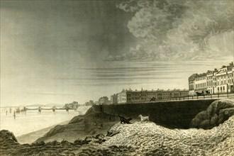'East View of Brighton from Kemp Town', 1835. Creator: Dean Wolstenholme.