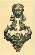 Bronze knocker, c1560, (1881). Creator: J Brooke.