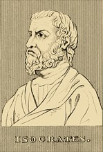 'Isocrates', (436-338 BC), 1830. Creator: Unknown.