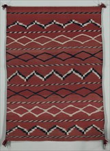 Blanket/ Sarape (banded style), late 1800s. Creator: Unknown.