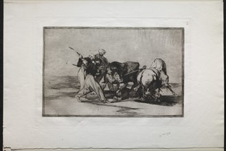 Bullfights: The Moors Settled in Spain, Giving Up the Superstitions of the Koran?, 1876. Creator: Francisco de Goya (Spanish, 1746-1828).