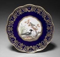 Footed Dish (soucoupe à pied), 1786. Creator: Sèvres Porcelain Manufactory (French, est. 1740); Etienne Evans (French, 1733-1806).