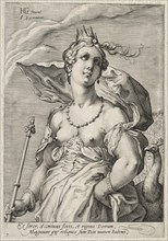 Juno, c. 1595. Creator: Jan Saenredam (Dutch, 1565-1607).
