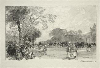 LAvenue des Champs Elysées. Creator: Auguste Louis Lepère (French, 1849-1918).
