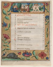 Leaf from a Psalter and Prayerbook: Calendar Page with Labors (verso), c. 1524. Creator: Unknown.