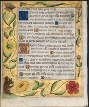 Leaf from a Psalter and Prayerbook: Ornamental Border with Flowers and Squirrel (verso), c. 1524. Creator: Unknown.