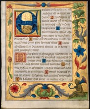 Leaf from a Psalter and Prayerbook?, c. 1524. Creator: Unknown.