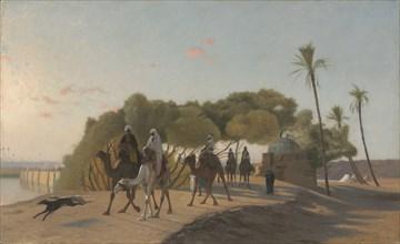 Leaving the Oasis, 1880s. Creator: Jean-Léon Gérôme (French, 1824-1904).