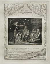 The Book of Job: Pl. 12, I am Young and ye are very Old wherefore I was afraid, 1825. Creator: William Blake (British, 1757-1827).