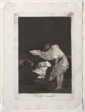 The Caprichos: A Bad Night, 1799. Creator: Francisco de Goya (Spanish, 1746-1828).