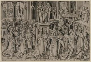 The Dance at the Court of Herod, c. 1500. Creator: Israhel van Meckenem (German, c. 1440-1503).