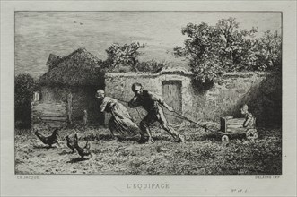 The Equipage. Creator: Charles-Émile Jacque (French, 1813-1894).