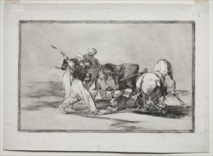 The Moors Settled in Spain, Giving Up the Superstitions of the Koran, Adopted this Art..., 1815-1816 Creator: Francisco de Goya (Spanish, 1746-1828).