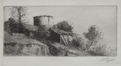 The Pigeon Tower. Creator: Alphonse Legros (French, 1837-1911).